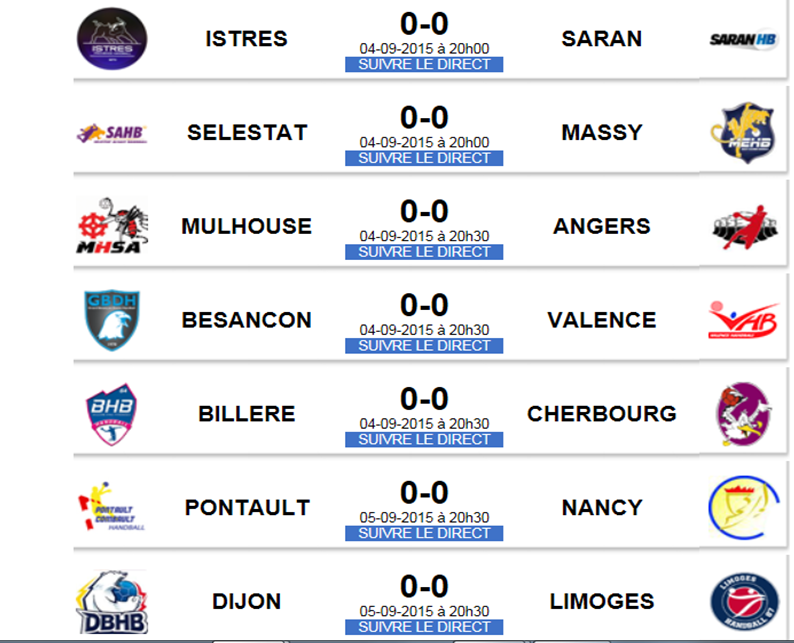 Pro D2 Le calendrier / - Provence Rugby